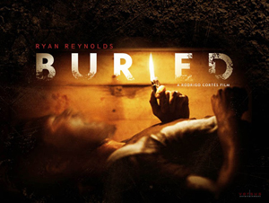 Ryan Reynolds in Buried movie poster