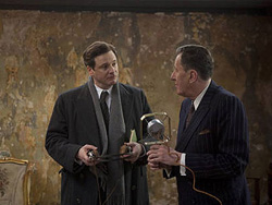 The King's Speech Bertie Logue Colin Firth Geoffrey Rush Harlety St rooms