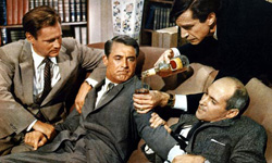 North by Northwest Cary Grant Roger Thornhill forced to drink