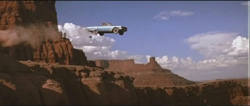 Thelma and Louise Thunderbird driving off cliff