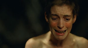 Anne Hathway as Fantine in Les Miserables