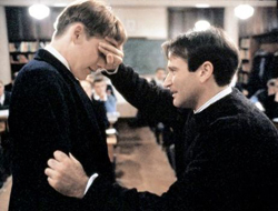 Dead Poets Society Midpoint Mr Keating (Robin Williams) confronts Todd (Ethan Hawke) and the timid student finally reveals what lurks beneath his timid shell