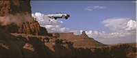 Thelma and Louise sail off over the Grand Canyon in their Thunderbird